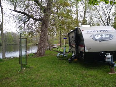 Stay in our RV near Road America, EAA, Kohler Golf or while hiking the Kettles.