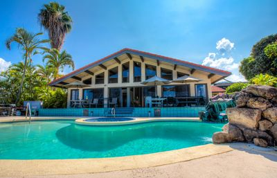 Photo for Big 4-Bedroom / 5 bath Kona Home with Pool/Jacuzzi, Ocean View (Sleeps 22 max)