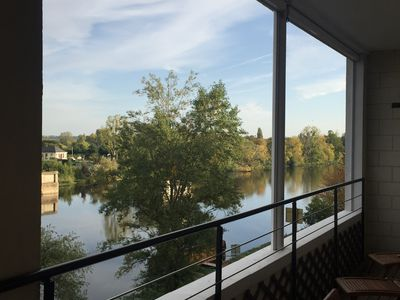 Photo for Luxury apartment overlooking the River Loire, close to Château and restaurants.