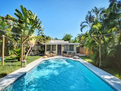Photo for Dreamy casa with a sun drenched pool and custom decor