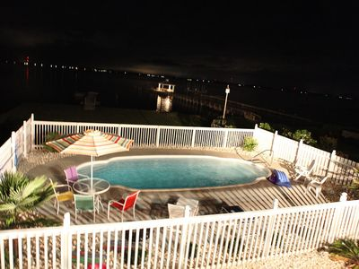 Photo for Amazing Sound Front Cottage with Private Pier and In-Ground Pool!!!
