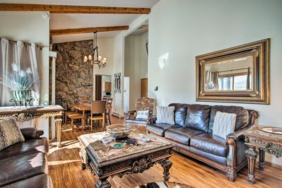 Unwind in this vacation rental home in Estes Park.
