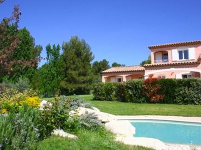 Photo for Beautiful villa near Aix-en-Provence, summer kitchen -private pool- free wifi