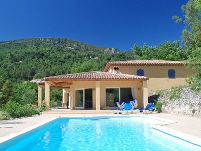Photo for Spacious, luxury villa with heated saltwater pool, surrounded by beautiful nature