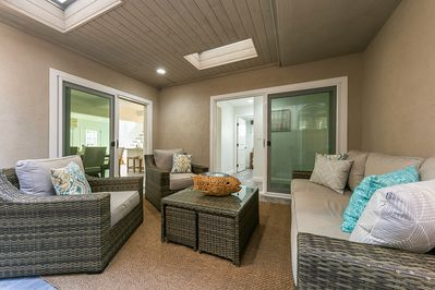 Enjoy lounging in your private patio space