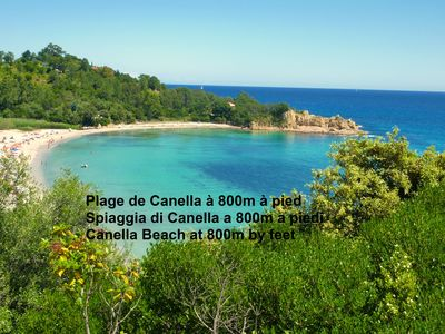 Photo for Seafront villa, Canella beach 800m far, pool, 4 persons, fully equipped