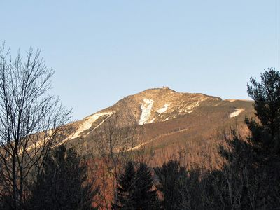 View of Whiteface Mountain from upper deck.