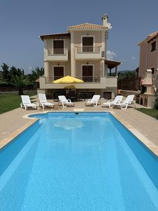 Photo for Spacious Villa. Private Pool. 300M to Beach. Shared Tennis Court.