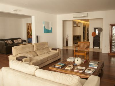 Photo for Beautiful, spacious architect-designed apartment one block from Copacabana beach
