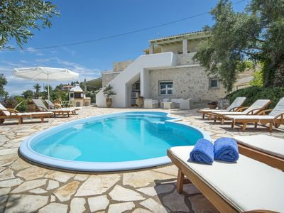 Photo for Private, Beachfront Villa with Pool, Beach and Close to Gaios
