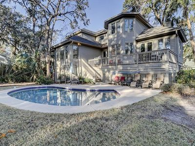Photo for Designer furnishing, expansive private pool area, and large private deck!