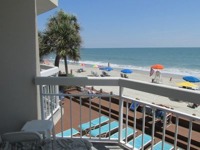 Photo for Oceanfront Condo @Watersedge Resort with indoor and outdoor hot tubs and pools