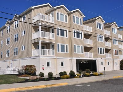 Photo for New 3BR,2BA Condo, Heated Pool, Elevator, 1 Block to Beach, Ocean view from deck