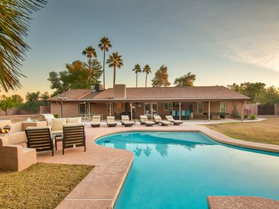 Photo for HUGE Backyard- 5BR- Heated pool, Outdoor Bar/Grill