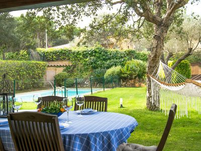 Photo for Fishing village family holiday, Villa with private and fenced pool . Wifi. BBQ