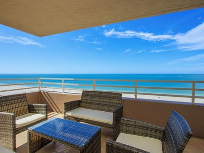 Photo for Corner Beachfront Spacious 3-bedroom, 3-bathroom Condominium with Stunning Gulf Front Views and Free Wifi!