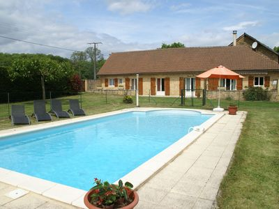 Photo for Beautiful holiday home on a single floor, with swimming pool and enclosed garden