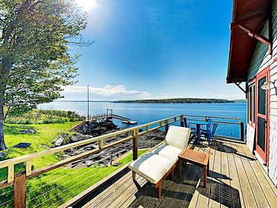 Photo for New Listing! Charming Cottage w/ Deepwater Dock & Panoramic Linekin Bay Views