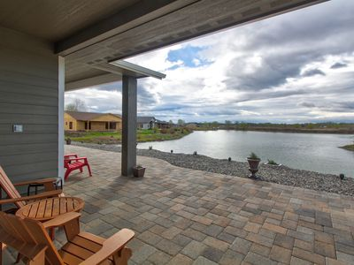 Photo for Waterfront suite w/ sunny patio, outdoor fire pit, lake views, and on-site golf
