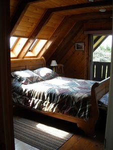 master bedroom-Queen- and private deck
