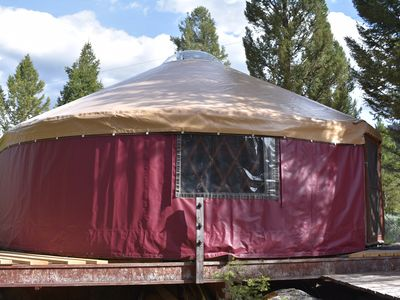 Photo for Yurt Next to Clarks Fork of the Yellowstone River, 30 Minutes from Yellowstone