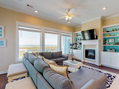Photo for Elegant Gulf-front home w/ decks, beach access & shared pool/hot tub - 2 dogs OK