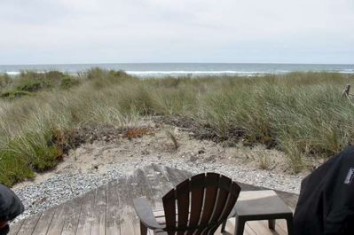 View from deck, with direct beach access