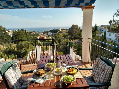 Photo for Apartment with sun terrace and sea view