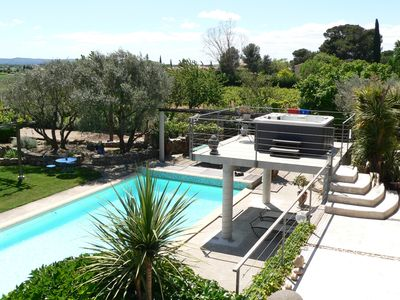 Photo for Attached villa on a calm property; village close to Montpellier