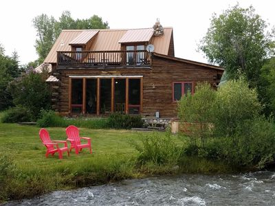 Photo for Charming Creekside Cabin - Hot Tub