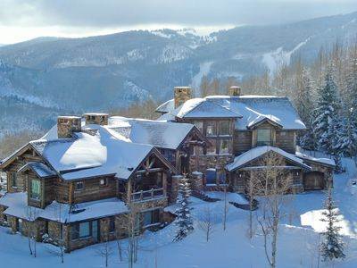 Photo for Bachelor Gulch, Ski In-Out Custom Log Home, Outdoor Pool, Hot Tub, Mountain View