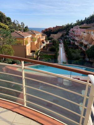 Photo for Theoule 2-room apartment 300 m beach and harbor with pool
