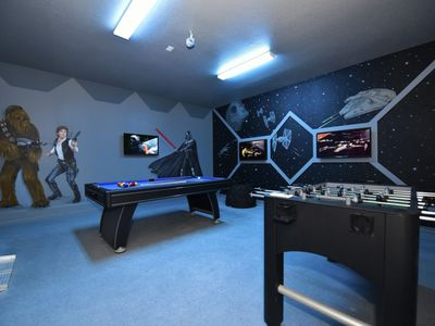 Photo for AWESOME 6BDR WATERSONG RESORT HOME w/Star Wars Themed Game Room, Pool & Resort Amenities