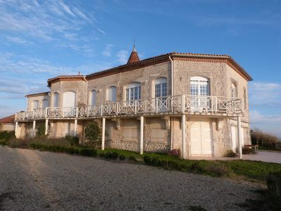 Photo for Villa with exceptional view of the ocean in traditional French village