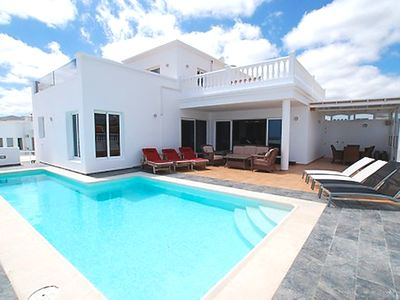 Photo for Villa Princessa Sue, Puerto del Calero, Stunning Villa with Hot-Tub and WiFi