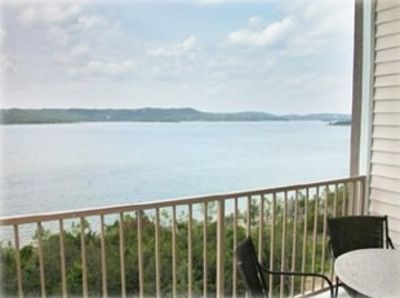 180* porch view of Table Rock Lake from 3 bedroom  Grande Pointe Deluxe Condo