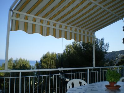 Photo for apartment in panoramic cottage near the sea