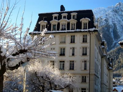 Photo for Super 1 bedroom apartment in Chamonix in prestigious residence with Free WiFi