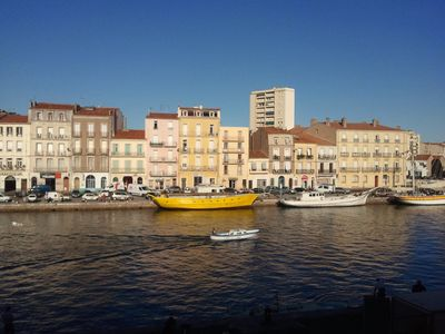Photo for In Sète 3 room apartment with splendid views over the canal