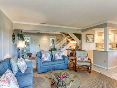 Photo for Golfcourse View Townhome Just A Block From The Beach!