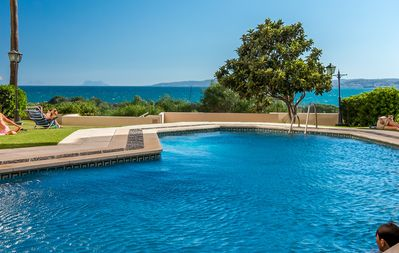One of the two lovely swimming pools - max depth 3m.