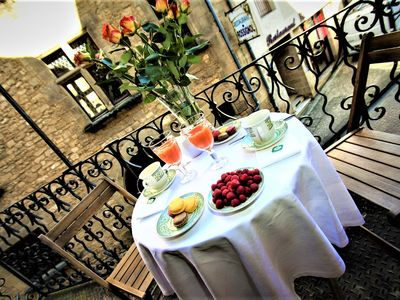 Photo for Balcony Fénelon: apartment for 2 people inside the medieval town with a private balcony