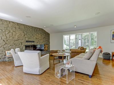 Photo for Midcentury Modern nestled in the woods with private brook