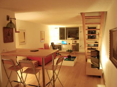 Photo for Flat in Le Corbusier building, 5mn Nantes center, view on Loire, 10mn airport