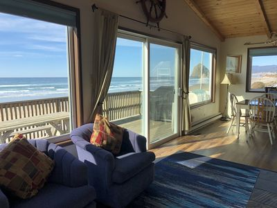Oceanview from the living room/dining/kitchen