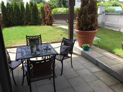 Photo for Large terrace apartment for your family holiday with terrace and garden