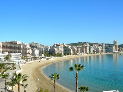 Photo for Apartment on the beach front, spectacular views, pool, free WIFI