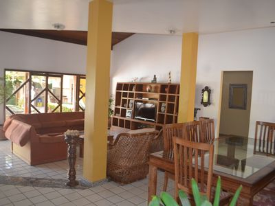 Photo for House with 4 bedrooms, swimming pool located 500 m beach, WIFI, AIR CONDITIONING