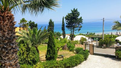 Photo for CDG037A Apartment In air-conditioned villa with parking near the beach of the Gulf of Castellammare