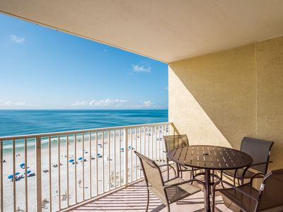 Photo for Affordable Gulf Front Condo - 1 Bedroom/1Bath - Sleeps 6 - Walk To Everything!